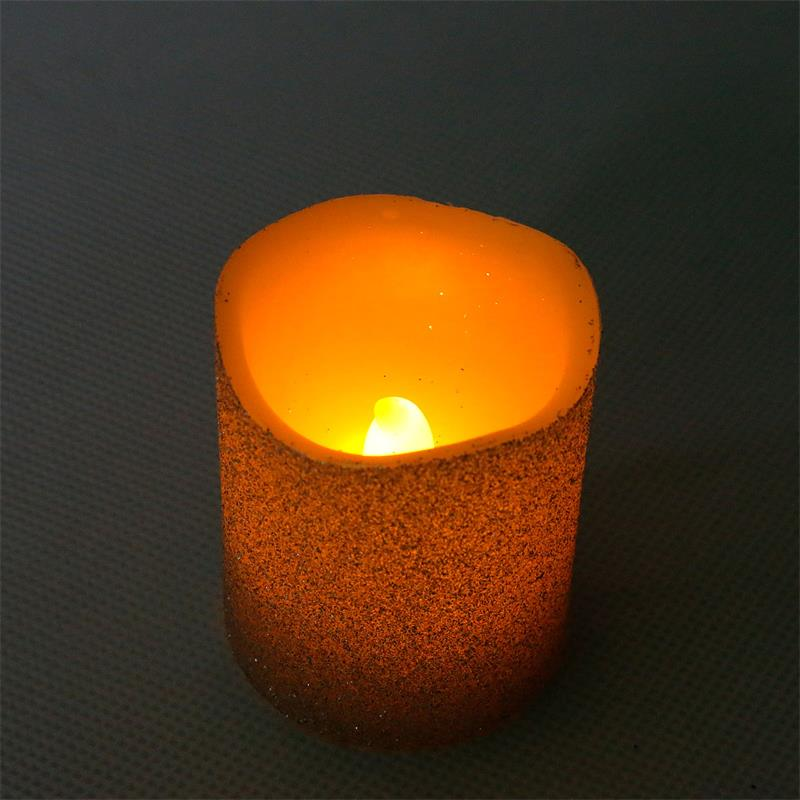 3er set led echtwachs kerze flackernde flammenlose kerzen. Black Bedroom Furniture Sets. Home Design Ideas