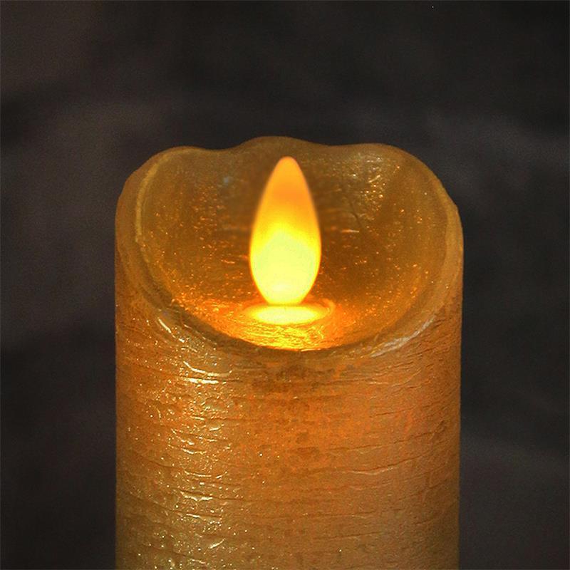 kerzen aus echtwachs mit bewegter led flamme wachs kerze flammenlos flackernd ebay. Black Bedroom Furniture Sets. Home Design Ideas