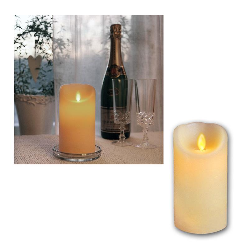 Echtwachs-Kerze-mit-bewegter-LED-Flamme-Wachs-Kerzen-flammenlos-flackernd-candle Indexbild 8