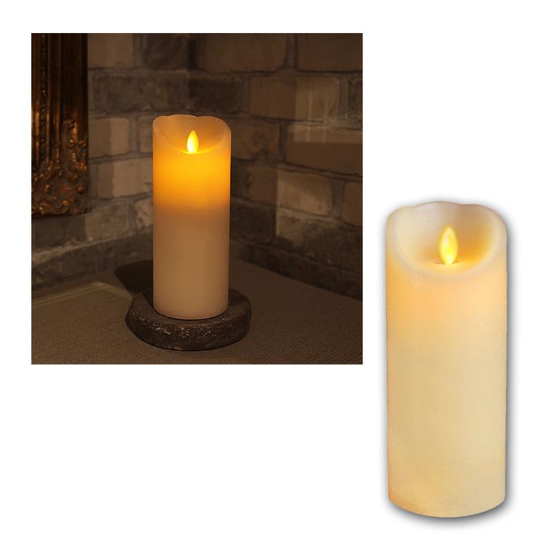 Echtwachs-Kerze-mit-bewegter-LED-Flamme-Wachs-Kerzen-flammenlos-flackernd-candle Indexbild 20