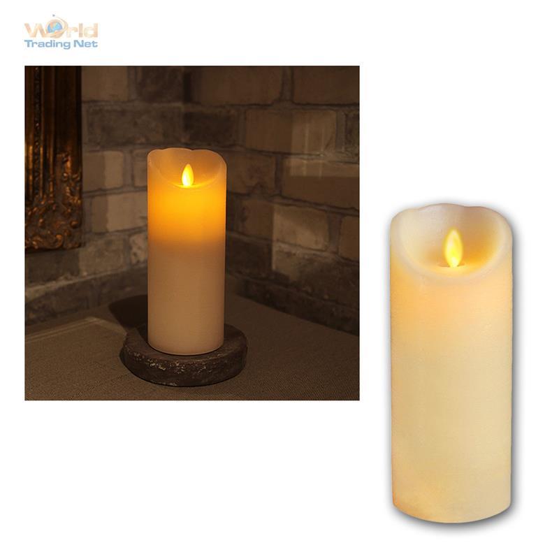 echtwachs kerze mit bewegter led flamme wachs kerzen flammenlos flackernd candle ebay. Black Bedroom Furniture Sets. Home Design Ideas