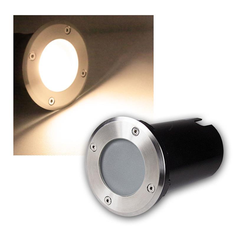 Suelo-LED-emisor-de-instalacion-lampara-de-suelo-acero-inoxidable-3-5-7w-suelo-emisor-230v-spots miniatura 32
