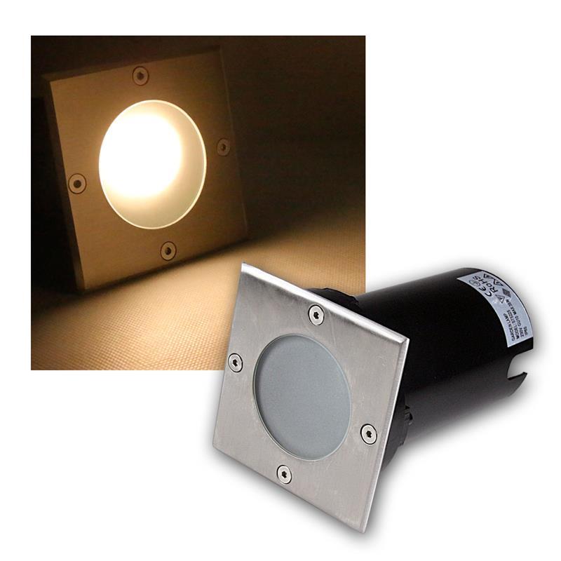 Suelo-LED-emisor-de-instalacion-lampara-de-suelo-acero-inoxidable-3-5-7w-suelo-emisor-230v-spots miniatura 44