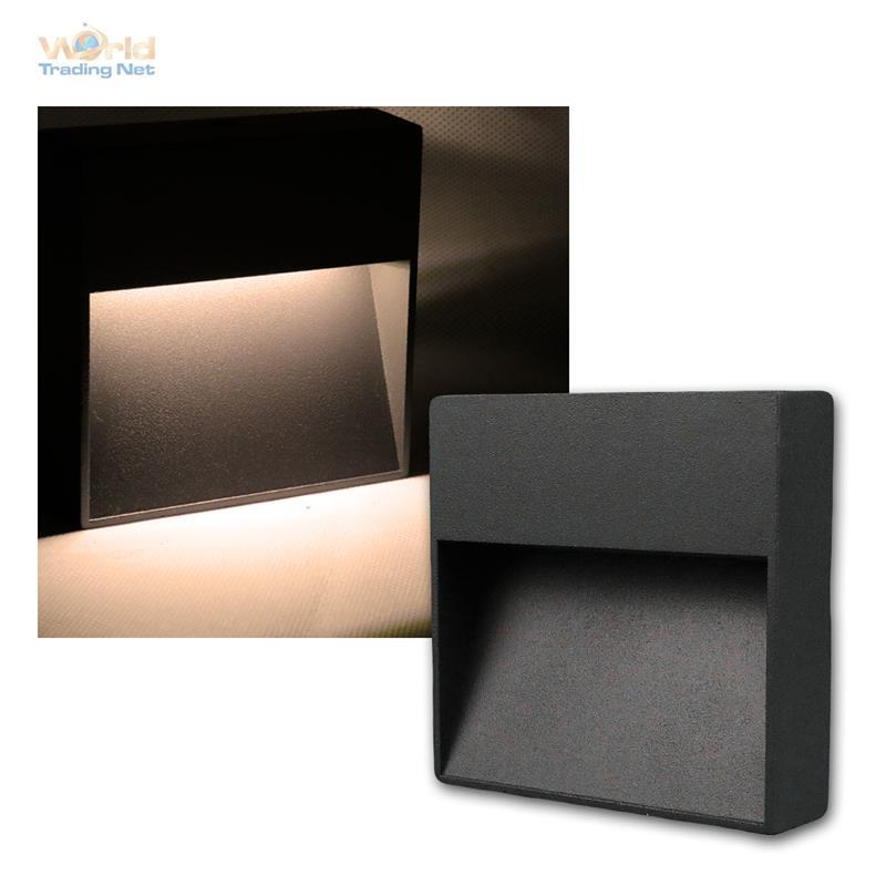 wandleuchte aluminium anthrazit schwarz ip54 10 smd led. Black Bedroom Furniture Sets. Home Design Ideas
