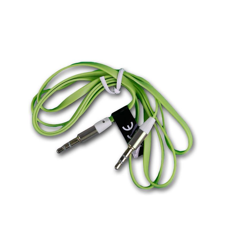 Klinken Kabel 3,5mm Stecker zu Stecker Stereo Klinkenkabel Audiokabel grün