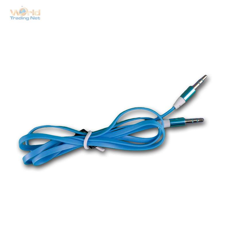 Klinken Kabel 3,5mm Stecker zu Stecker, blau, Stereo Klinkenkabel Audiokabel