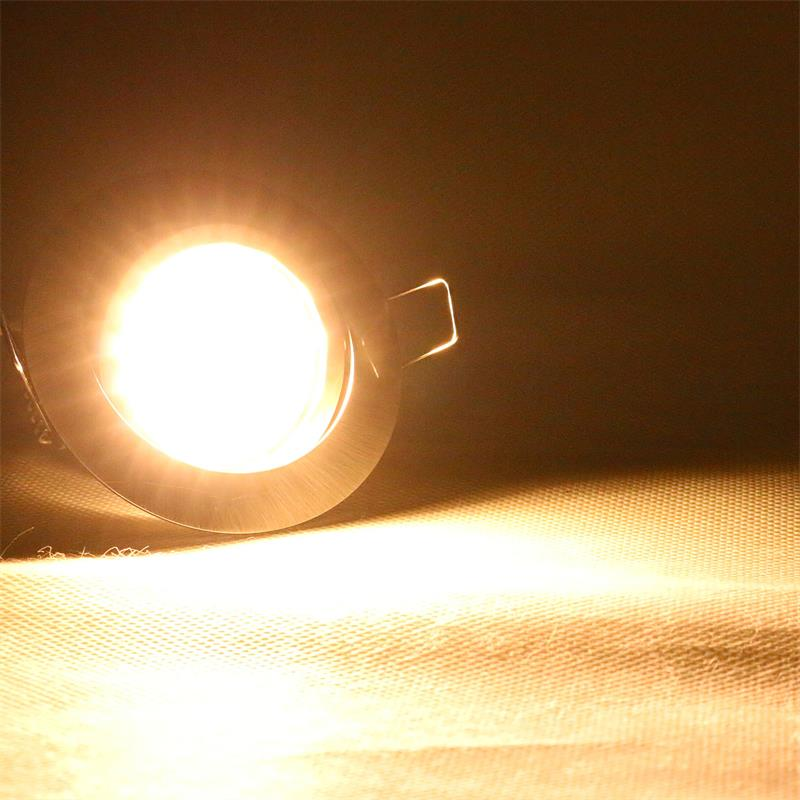 LED-Einbaustrahler-Einbauleuchte-zB-Edelstahl-gebuerstet-warm-kalt-230V-dimmbar