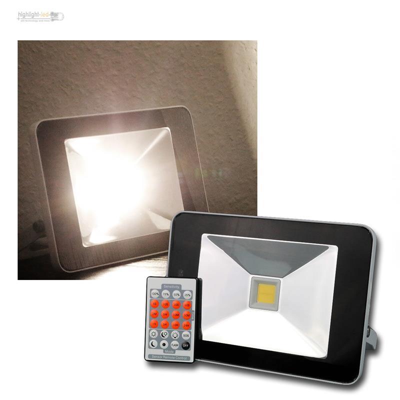 Aussenleuchte-Aussenlampe-LED-Scheinwerfer-SLIM-weiss-Hoflicht-Fluter-Wandleuchte
