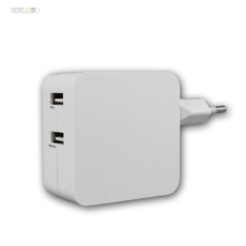Stecker-Netzteil-mit-USB-034-CTN-0540-Duo-034-4-2A-21W-Lade-Adapter-fuer-zB-Smartphone
