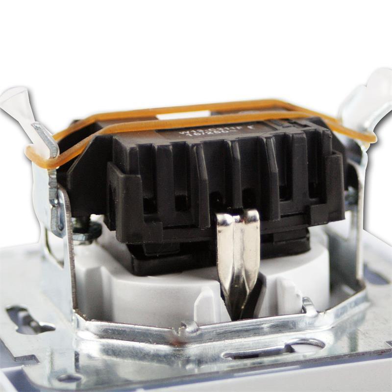 DELPHI-16-Stueck-Schutzkontakt-Steckdose-weiss-250V-16A-Klemmanschluss-UP-Rahmen Indexbild 4