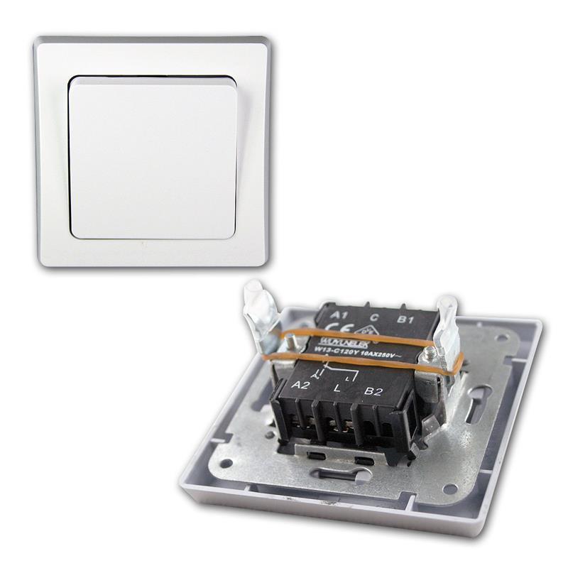 DELPHI Unterputz Starter-Kit, 32er Set Schalter Steckdose inkl ...