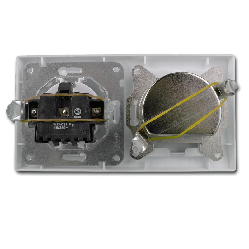 DELPHI-Kombisteckdose-Schuko-Steckkdose-230V-amp-Antennendose-SAT-weiss-UP-Rahmen Indexbild 4