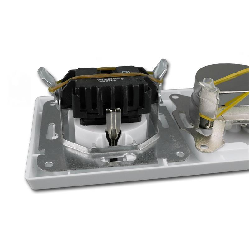 DELPHI-Kombisteckdose-Schuko-Steckkdose-230V-amp-Antennendose-SAT-weiss-UP-Rahmen Indexbild 5