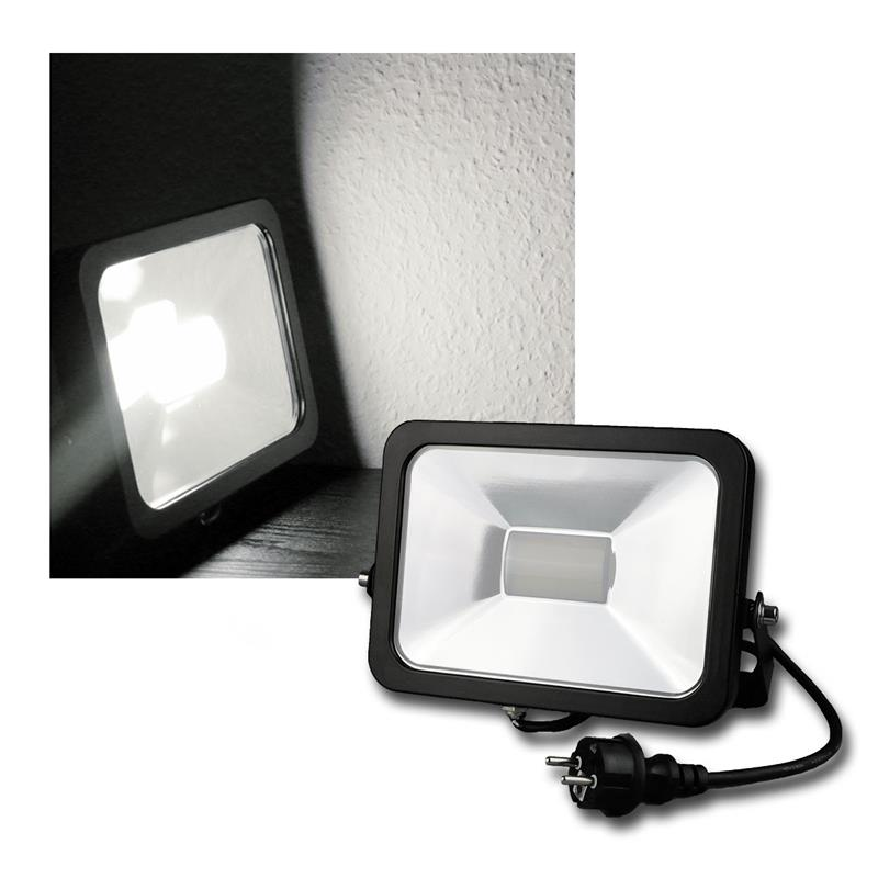 led fluter ultraslim flutlicht strahler scheinwerfer 10 80w flutlichtstrahler ebay. Black Bedroom Furniture Sets. Home Design Ideas
