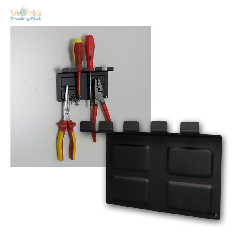 magnetischer werkzeughalter aus stahlblech mit magnet. Black Bedroom Furniture Sets. Home Design Ideas