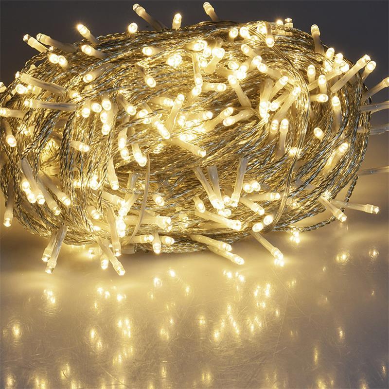 LED Lichterketten für Außen und Innen mit 40//100//200//400 LEDs warmweiß 230V IP44