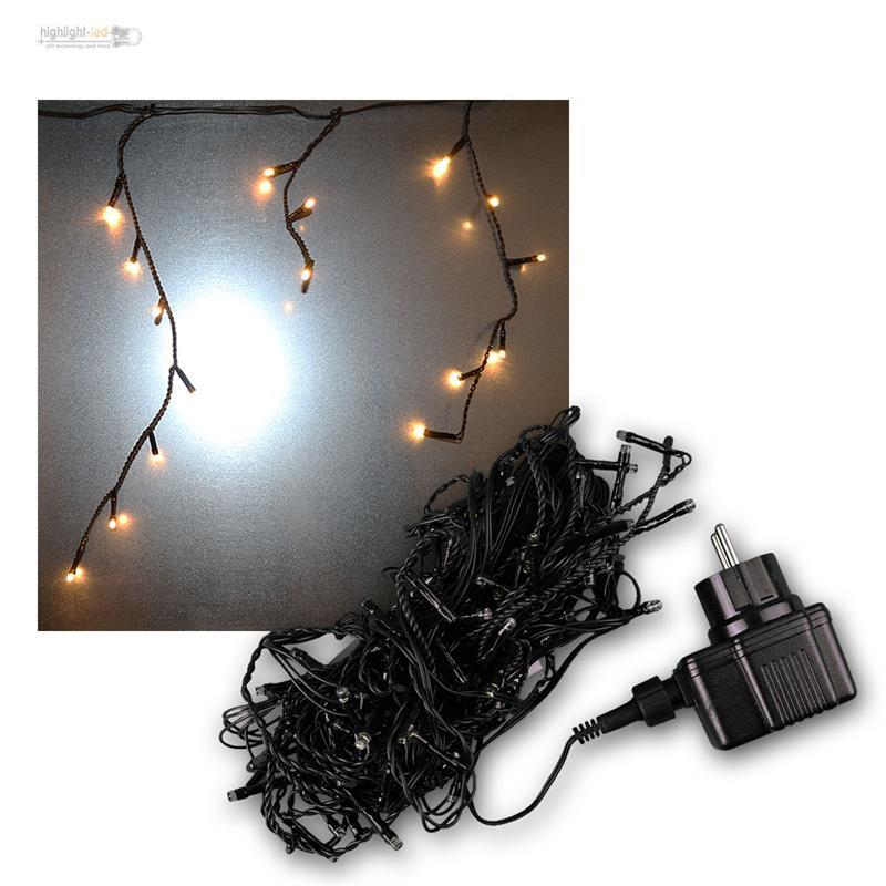 led eisregen lichterkette eisregenkette lichtervorhang schneefall vorhang aussen ebay. Black Bedroom Furniture Sets. Home Design Ideas