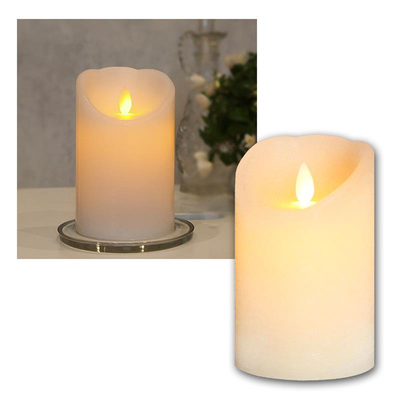 led echtwachs kerze mit timer beweglicher flamme flammenlose flackernd kerzen ebay. Black Bedroom Furniture Sets. Home Design Ideas