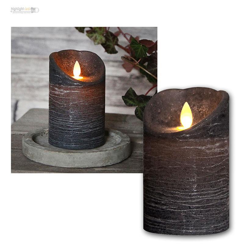 led kerze mit timer beweglicher flamme flammenlose flackernd echtwachs kerzen ebay. Black Bedroom Furniture Sets. Home Design Ideas