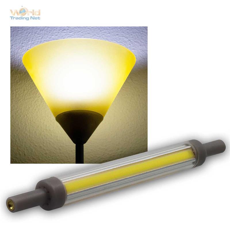 slim line r7s led leuchtmittel 78 118mm fluter halogenstab. Black Bedroom Furniture Sets. Home Design Ideas
