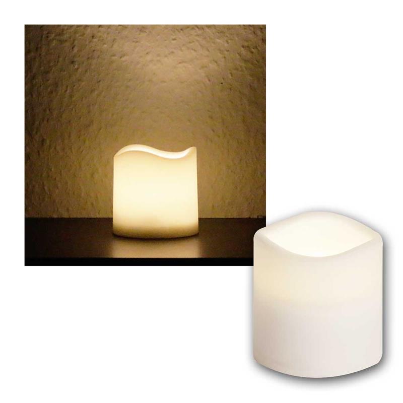 led kerze f r au en mit timer flackernde flammenlose. Black Bedroom Furniture Sets. Home Design Ideas