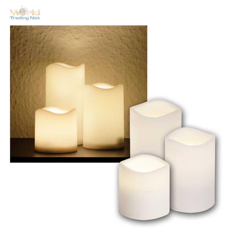 led kerze f r au en mit timer flackernde flammenlose kerzen flackernd outdoor ebay. Black Bedroom Furniture Sets. Home Design Ideas