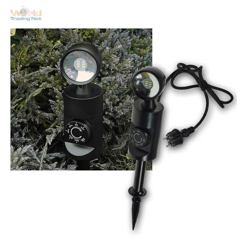 led gartenleuchte 3w 6w mit d mmerungsschalter sensor timer gartenspots 230v ebay. Black Bedroom Furniture Sets. Home Design Ideas