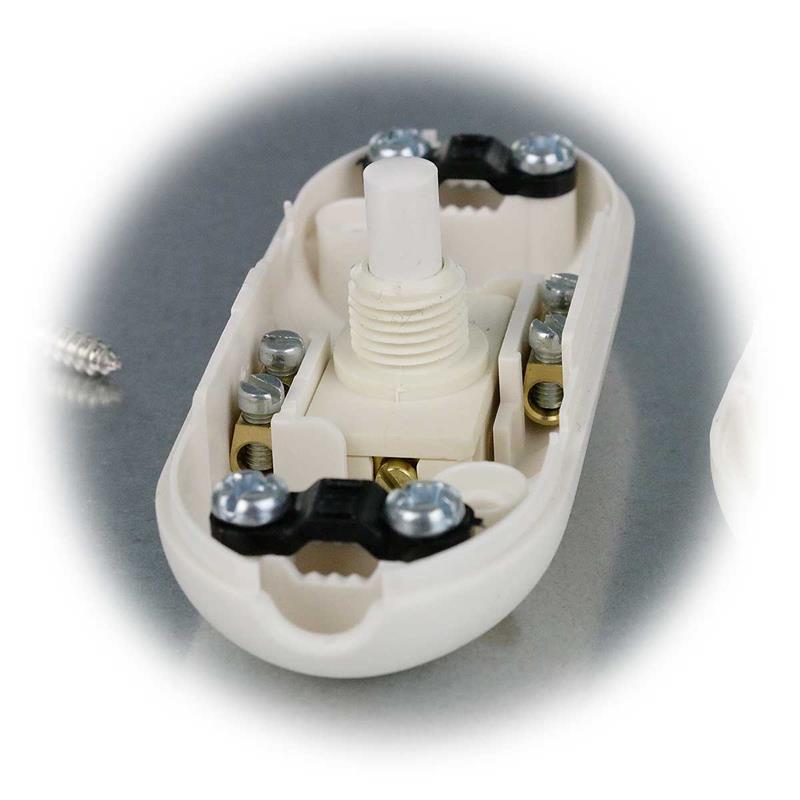 druck zwischenschalter 230v 2a schnurschalter lampenschalter lampe schalter ebay. Black Bedroom Furniture Sets. Home Design Ideas