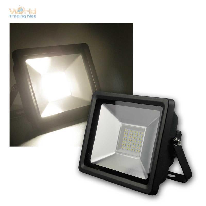 led strahler 10 20 30w ip65 schwarz flutlicht scheinwerfer hoflicht fluter ebay. Black Bedroom Furniture Sets. Home Design Ideas