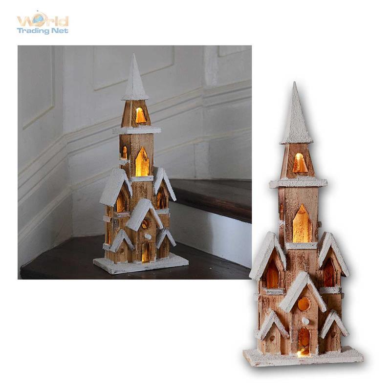 Weihnachtshaus Holzhaus Led Beleuchtet Weihnachtsdeko