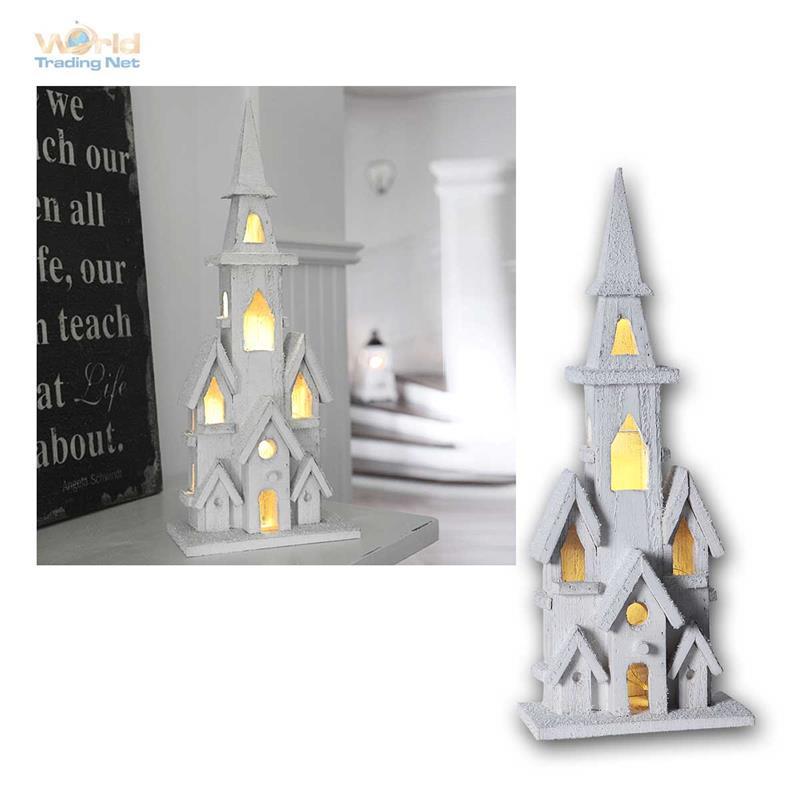weihnachtshaus holzhaus led beleuchtet weihnachtsdeko weihnachten haus mit timer ebay. Black Bedroom Furniture Sets. Home Design Ideas