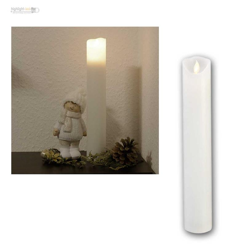 led kerze m twinkle bewegliche flamme 30 40cm mit 6 18h timer wachskerze neu ebay. Black Bedroom Furniture Sets. Home Design Ideas
