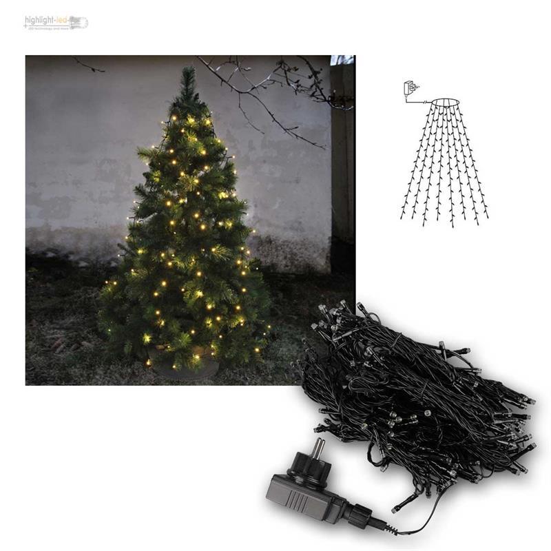 lichterkette f r weihnachtsbaum 160 led 8 str nge. Black Bedroom Furniture Sets. Home Design Ideas
