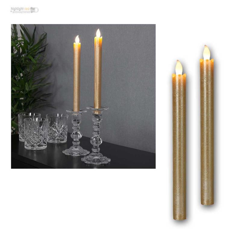 led tafelkerze stabkerzen presse 2er set elektrisch flammenlos echtwachs kerze ebay. Black Bedroom Furniture Sets. Home Design Ideas