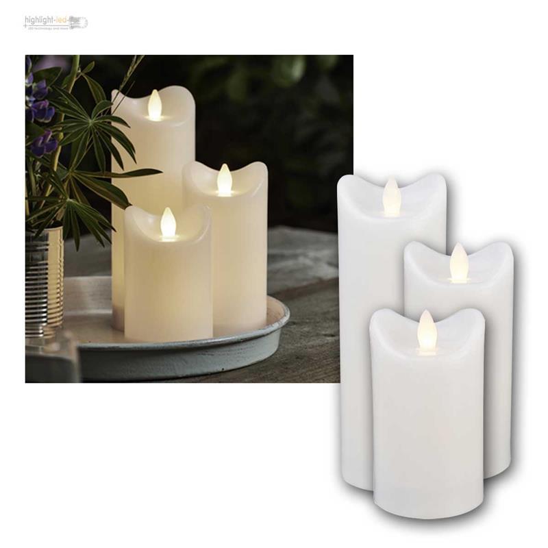 led kerze f r au en mit timer flackernde flammenlose kerzen outdoor candle neu ebay. Black Bedroom Furniture Sets. Home Design Ideas