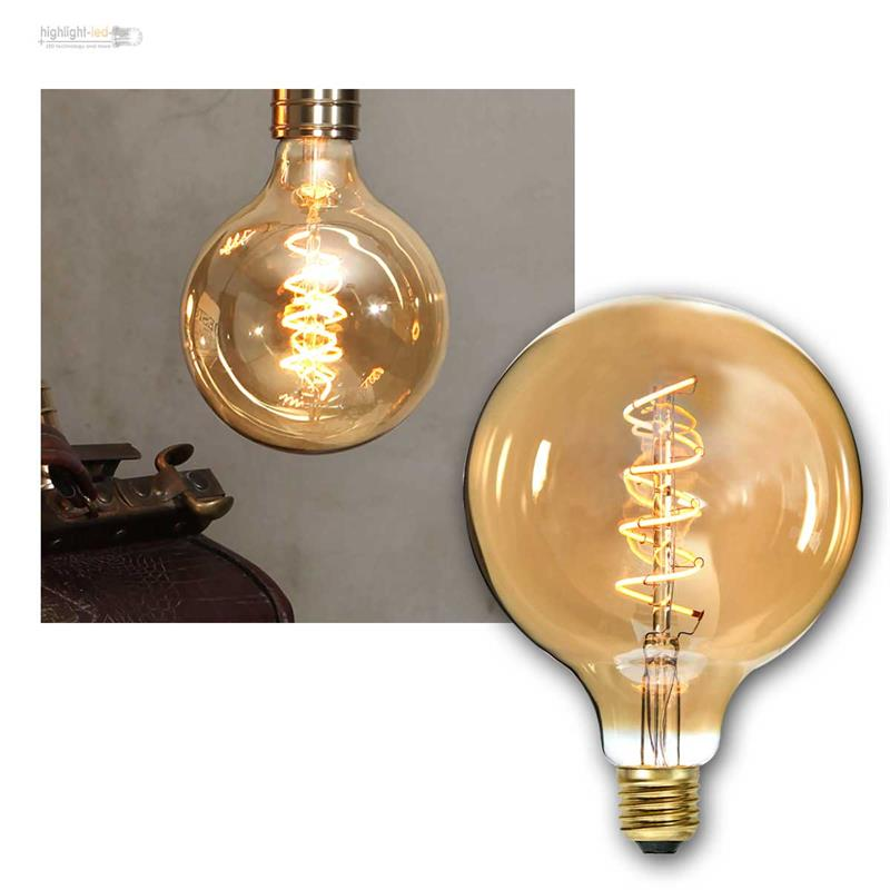 e27 gl hlampe filament led nostalgie birne retro vintage spiral gl hbirne lampe ebay. Black Bedroom Furniture Sets. Home Design Ideas