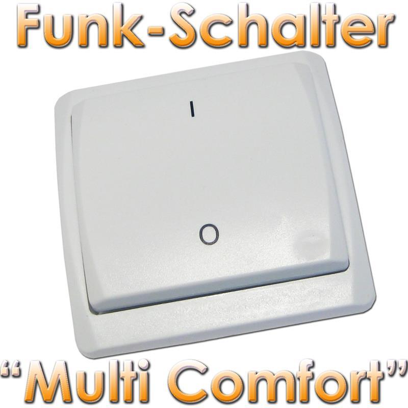 funk wandschalter multi comfort sender funkschalter schalter per funk ebay. Black Bedroom Furniture Sets. Home Design Ideas