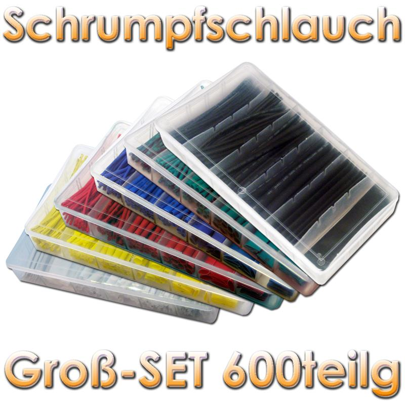 BLANKO 600-teiliges Schrumpfschlauch SET mit 6 Farben