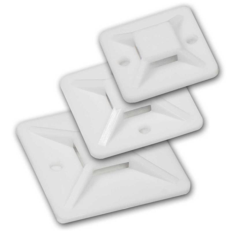 Cable Holder Cable Clip Adhesive base for cable ties Mounting Base Adhesive Pads