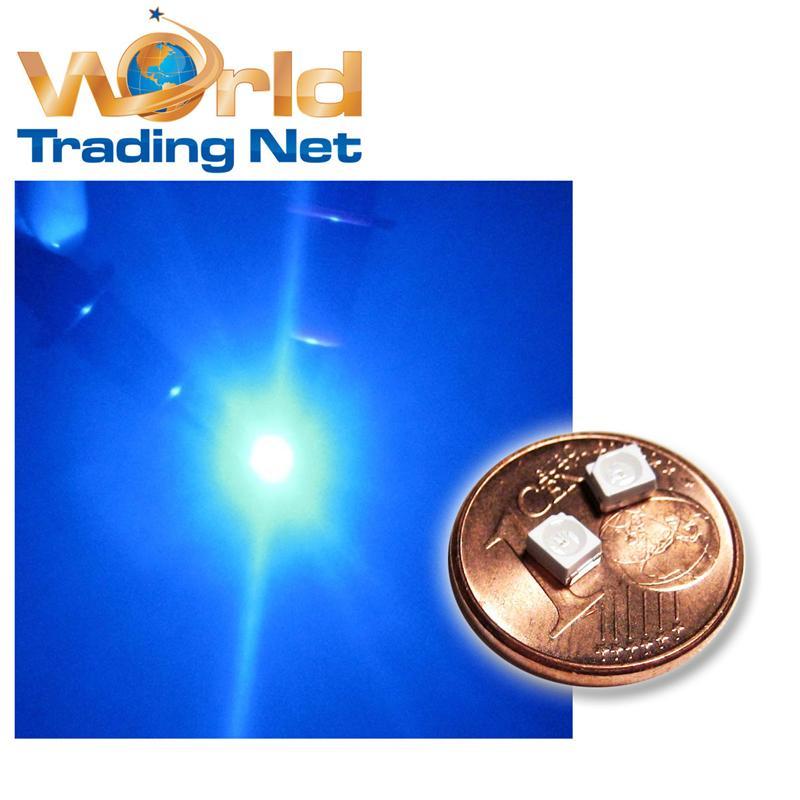 50-Stueck-SMD-LED-PLCC2-3528-BLAU-MINI-LEDs-500mcd-120