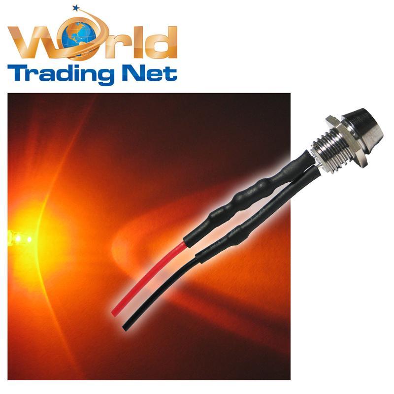 2x-3mm-LED-Schrauben-ORANGE-fertig-verkabelt-LEDs-12V