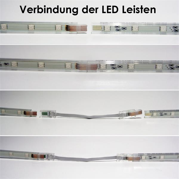 led stripe set rgb 2x 40cm mit ir fb 2x15 smds im led. Black Bedroom Furniture Sets. Home Design Ideas