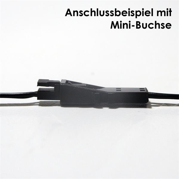led anschlusskabel mini stecker 50cm kabel im led onlineshop. Black Bedroom Furniture Sets. Home Design Ideas