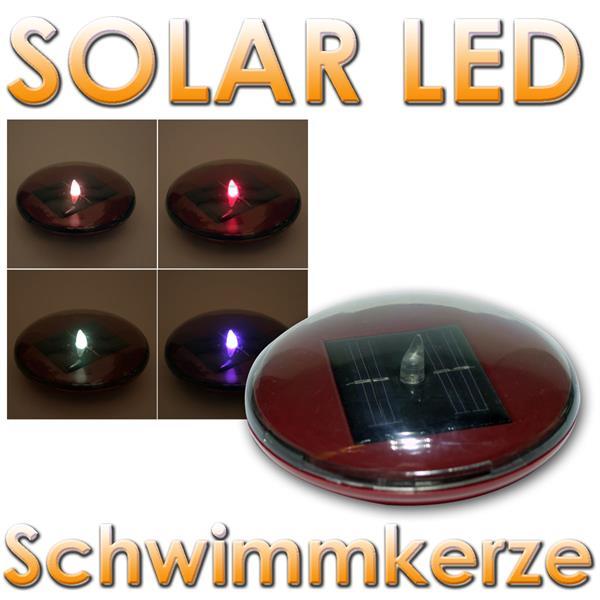 solar led schwimmkerze teichkerze farbwechsel leds im led. Black Bedroom Furniture Sets. Home Design Ideas