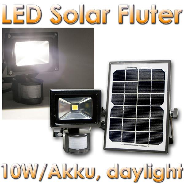 led solar fluter 10w mit akku 1000lm daylight im led onlineshop. Black Bedroom Furniture Sets. Home Design Ideas