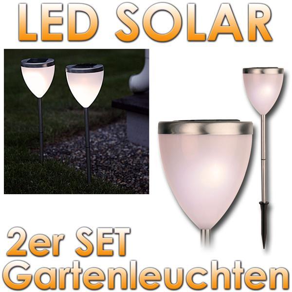 2er set led solar gartenleuchten solarlampen warmw im led. Black Bedroom Furniture Sets. Home Design Ideas