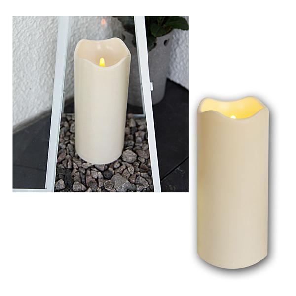 led candle for outdoors with timer flickering leds. Black Bedroom Furniture Sets. Home Design Ideas
