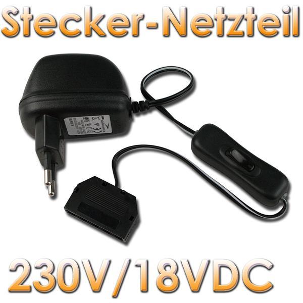 stecker netzger t 230v 12vdc max 0 25a 3w im led onlineshop. Black Bedroom Furniture Sets. Home Design Ideas