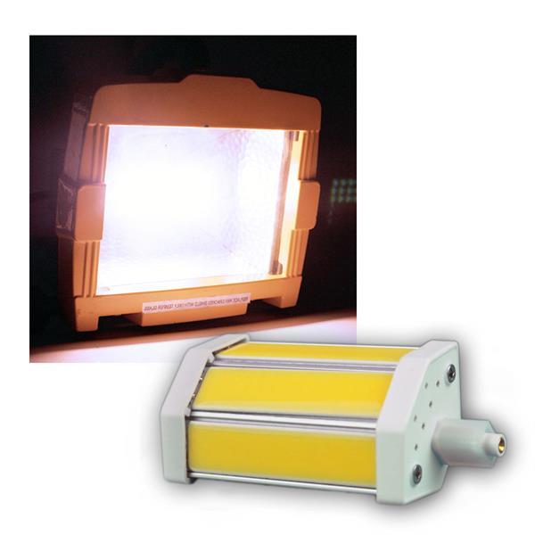 led leuchtmittel r7s dimmbar 78 118mm 230v 3 cob leds fluter halogenstab ersatz ebay. Black Bedroom Furniture Sets. Home Design Ideas