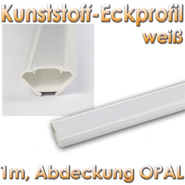 1m led kunststoff profil ecke wei abdeckg opal. Black Bedroom Furniture Sets. Home Design Ideas